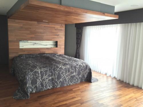 戸建 主寝室カーテン ベッドカバー製作|CASADECO