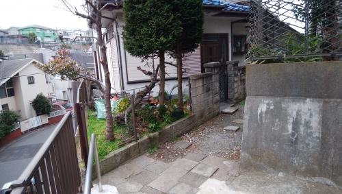横浜市中区で外構工事。
