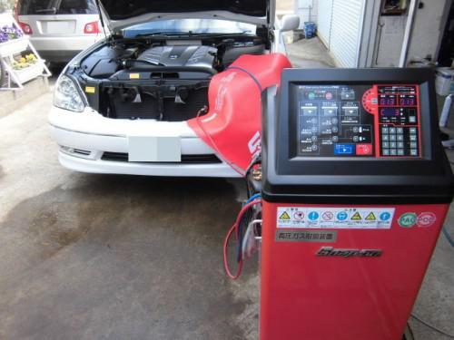 UCF30セルシオ エアコンのバックリターン洗浄