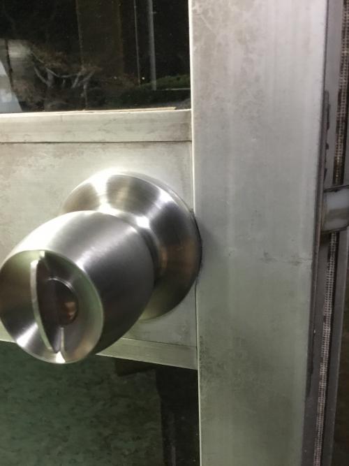 土浦市にて鍵交換
