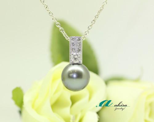 南洋真珠の指輪をペンダントトップにジュエリーリフォーム