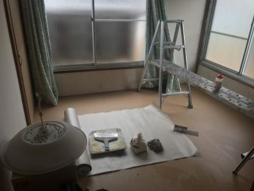 雨漏り修理後の天井補修