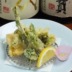 今が旬の春野菜の天ぷら