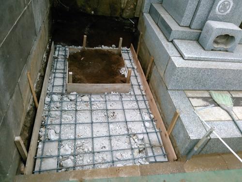 久保山新規墓地基礎工事