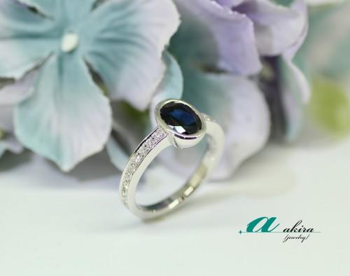 サファイヤの指輪をリメイク