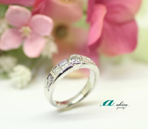 お母様の形見の指輪を使ってデザイン変更