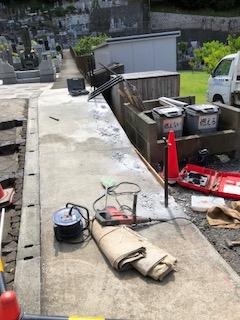フェンス&道路補修工事