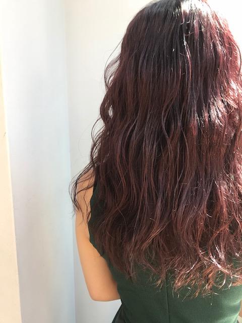 ピンク系カラーでツヤ髪に♪♪