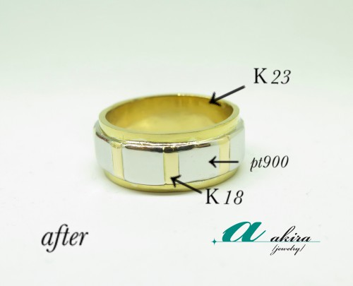 磨り減ってしまった結婚指輪をリフォーム