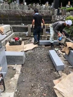 大長寺 墓地のリフォーム工事