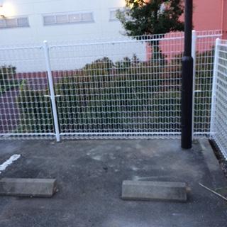 さいたま市で駐車場フェンス工事を施工致しました