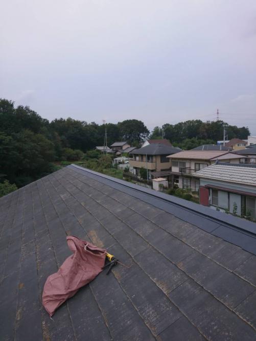 鶴ヶ島市で台風被害で破損した屋根の修理を致しました