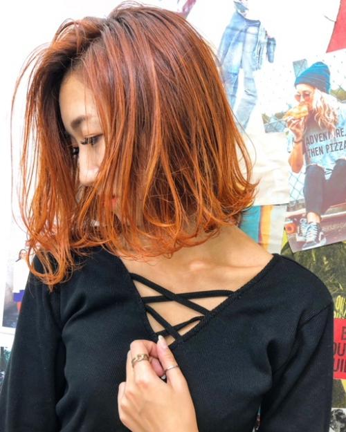 TLONY渋谷hori 秋のオレンジヘア