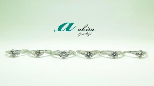 人気のシンプル婚約指輪のサンプルを追加しました