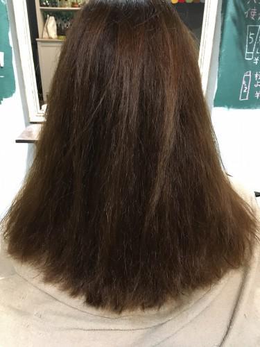 ダメージ毛の縮毛矯正