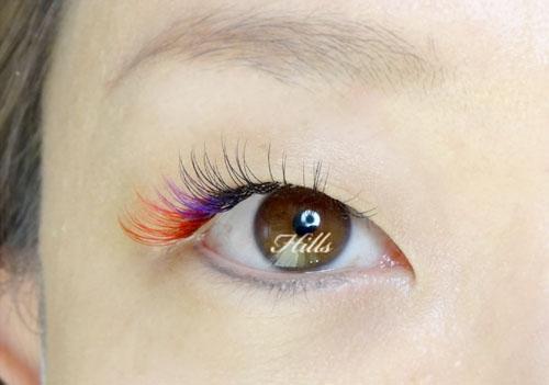カラーエクステ☆赤紫!色味変更中★