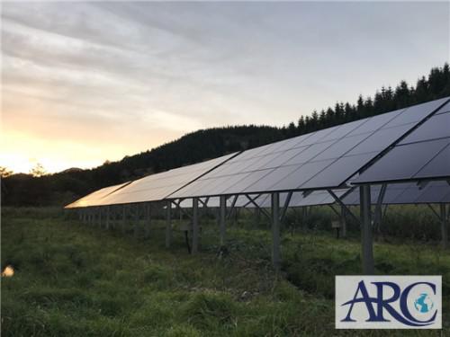 産業用太陽光発電ソーラーフロンティア製モジュール採用!