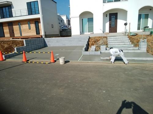 佐島の丘で外構工事。