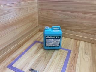 東松山市で室内を木材保護塗料で施工しました