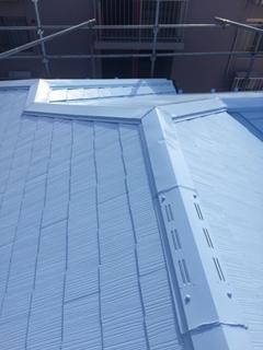 坂戸市で屋根の遮熱シリコンで塗装致しました
