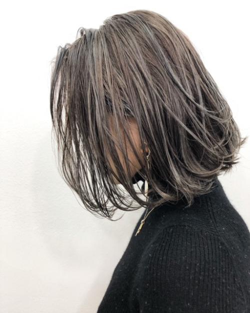 tlony渋谷オトナカッコいいライトグレージュボブ