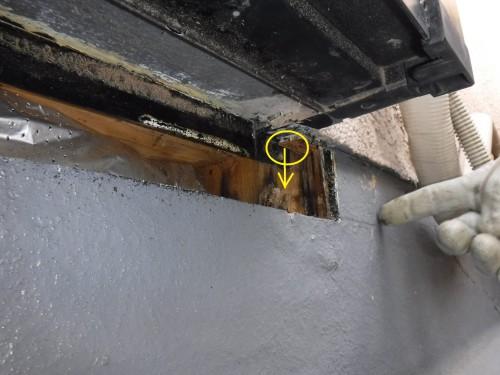 杉並区で防水とサッシ絡みの雨漏りの改善を実施しました!
