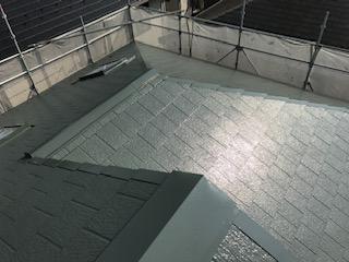 本日坂戸市で屋根塗装が完了致しました