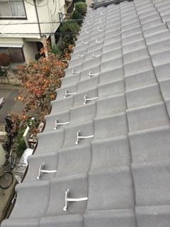 東松山市で屋根瓦の雪止め工事を施工しました