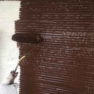 坂戸市で外壁サイディングの中塗り塗装工事を施工してきました