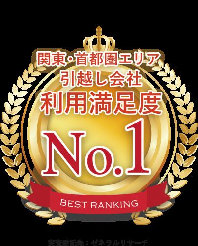 引越し業者お客様利用満足度No1の称号を獲得│東京引っ越し