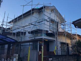 鶴ヶ島市で足場工事が完了致しました