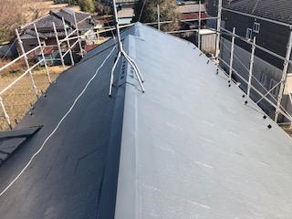 川越市で屋根塗装が完了致しました