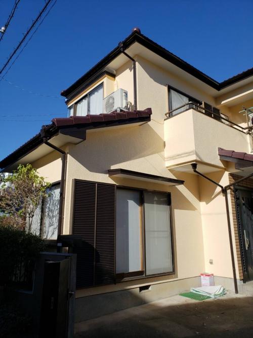 鶴ヶ島市で屋根瓦・外壁塗装工事が完了致しました