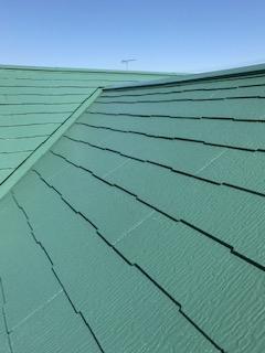 日高市でコロニアル屋根の塗装工事が完了致しました