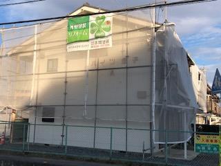 東松山市で足場工事が完了致しました