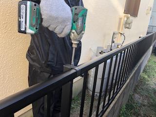 鶴ヶ島市でアルミフェンス取り付け工事が完了致しました
