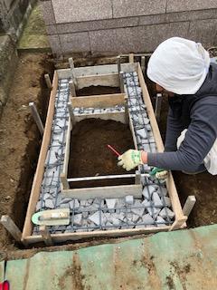 久保山新規墓地 基礎工事