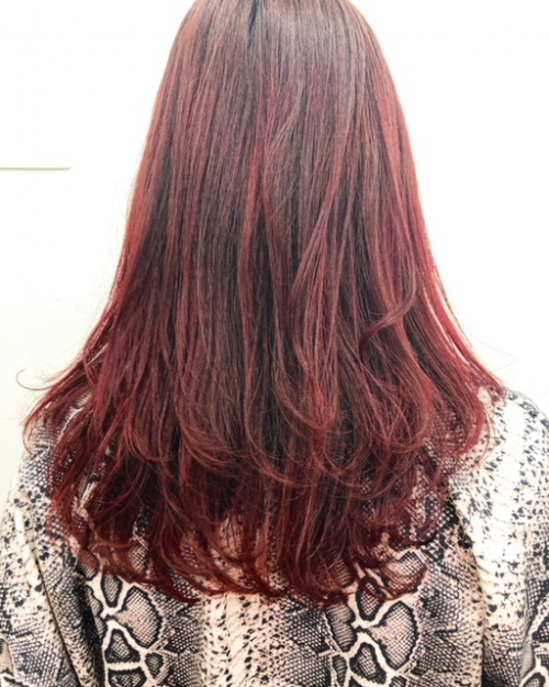 TLONY渋谷 冬の定番 暖色カラー 赤髪