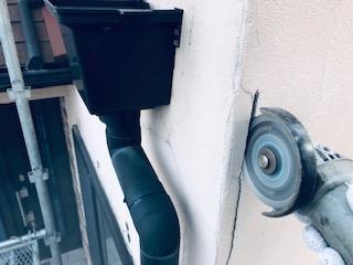 坂戸市で外壁モルタルクラック補修を致しました