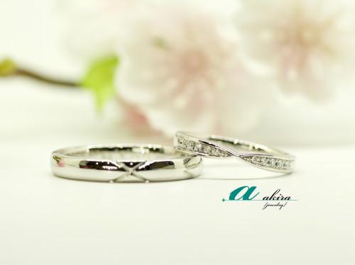 千葉市稲毛区からのお客様に結婚指輪の御納品を致しました