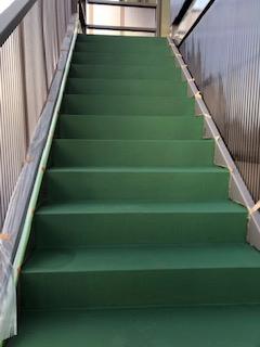 東松山市でアパート階段防水工事が完了しました
