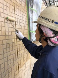 嵐山町でサイディングパネルのフッ素クリアー塗装致しました
