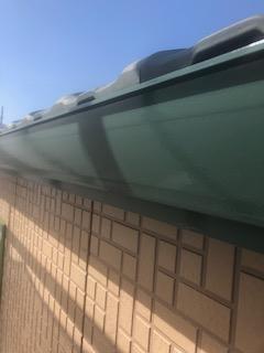 嵐山町で雨樋塗装工事が完了致しました