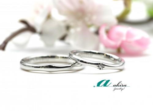 婚約指輪から一年後結婚指輪の御納品でした船橋市から御来店