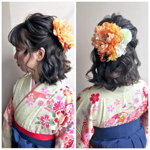卒業式 髪型 ハーフアップ 髪飾り 卒業式ヘア 2019年