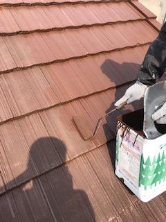 鶴ヶ島市でモニエル瓦の塗装工事を施工しました
