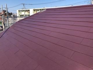 坂戸市で屋根コロニアルの遮熱塗装工事を施工しました