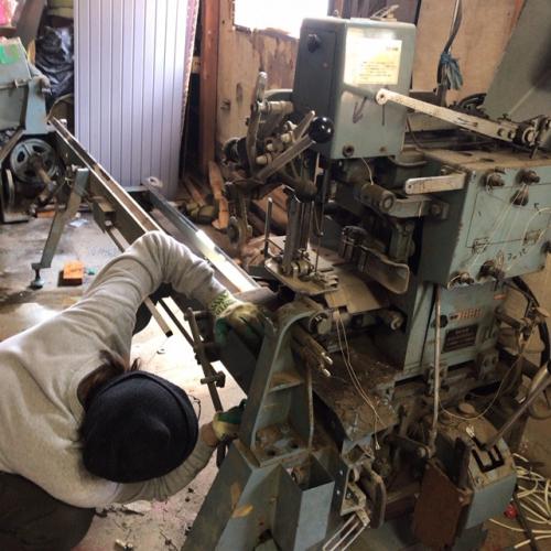 畳縫い機械解体