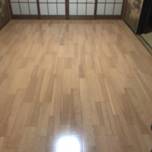 和室畳からフローリングに改装工事
