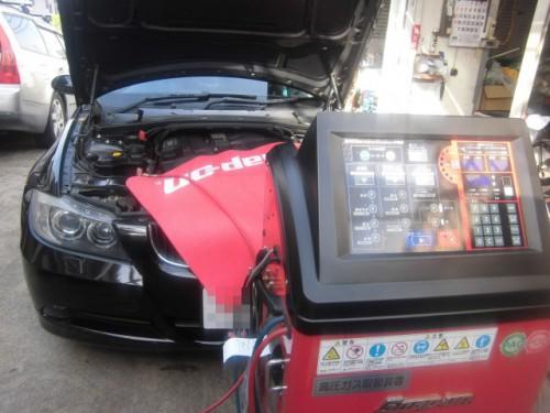 BMW320i エアコン効かずサイクルの反復洗浄したら、、、